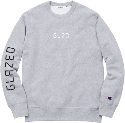 DIGI GLOW CHAMPION® CREWNECK (HEATHER GREY)