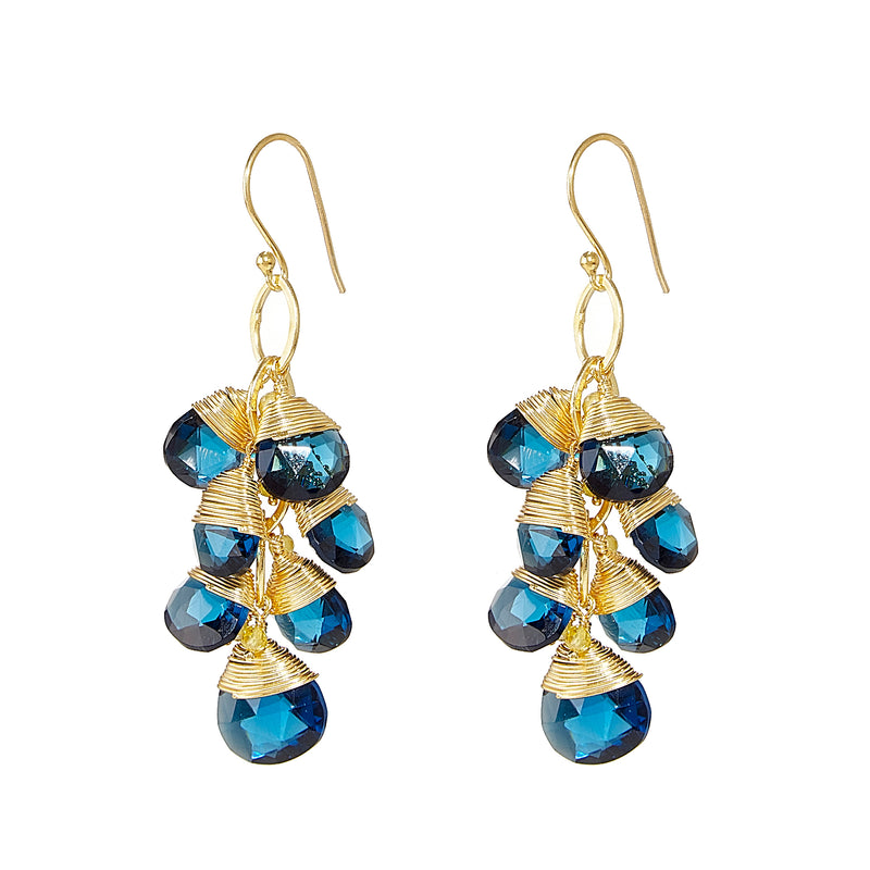 Earring - London Blue Topaz Quartz