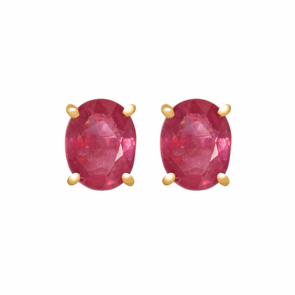 Earrings - Ruby Studs
