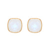 Earrings - Cushion Cut Moonstone Studs