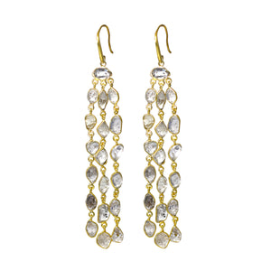 Earrings - Herkimer Diamond Chandelier