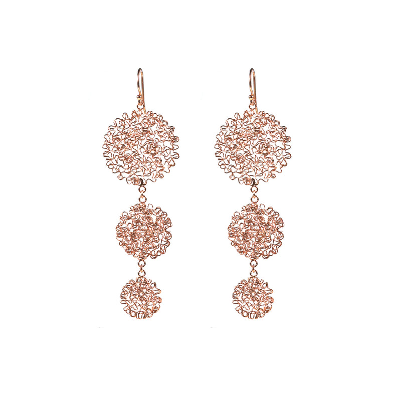 Earrings - Happy Drops Rose Gold Trio