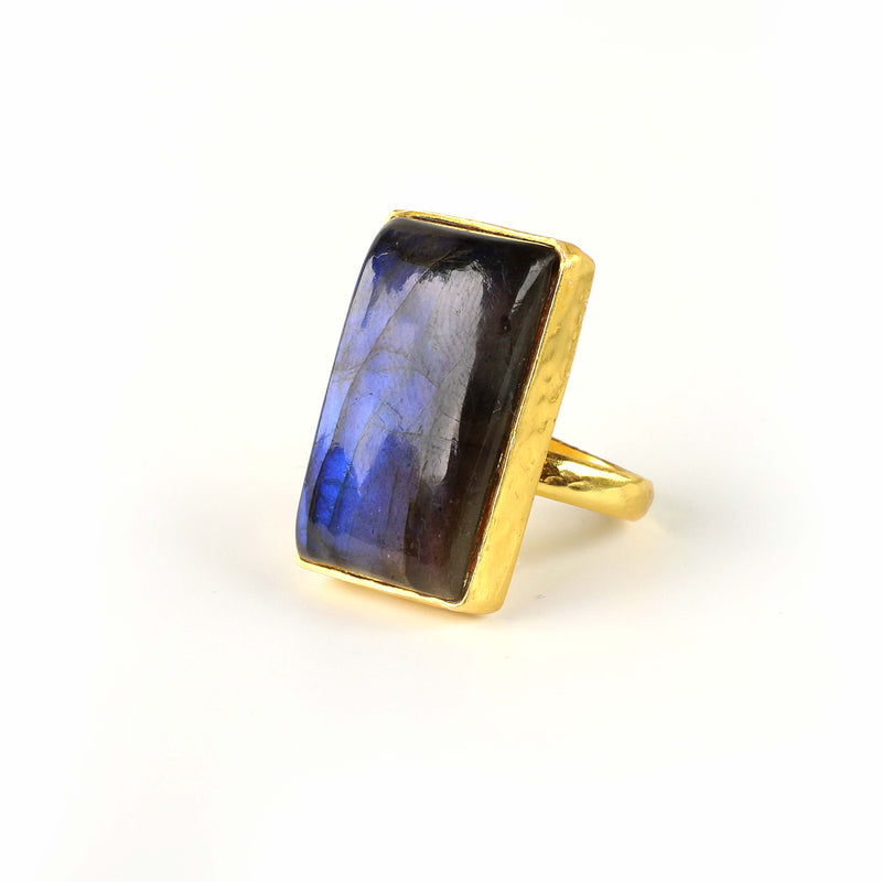 Ring - Labradorite Rectangle