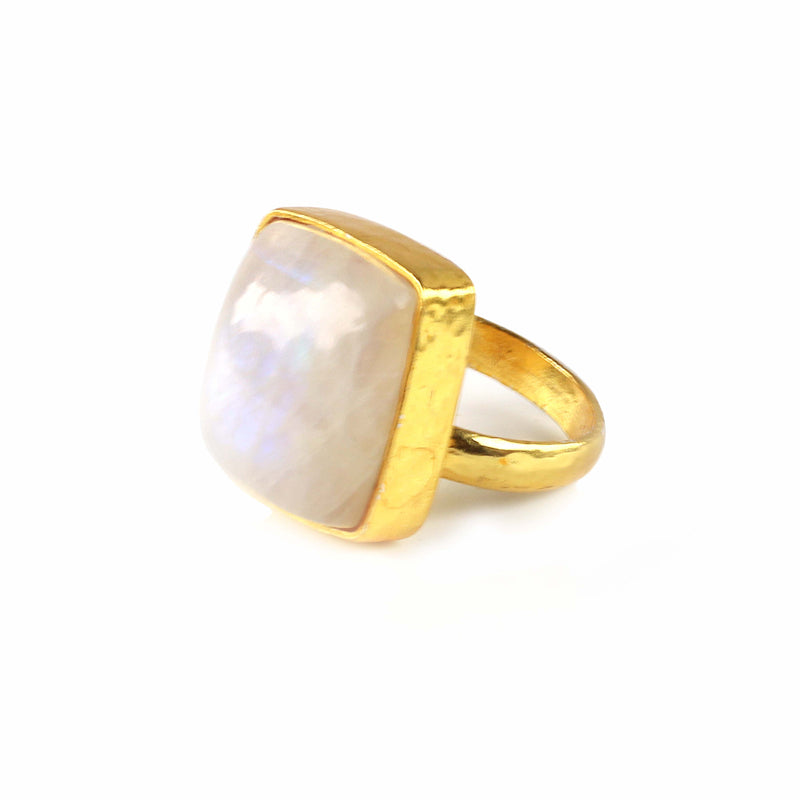Ring - Moonstone Rectangle