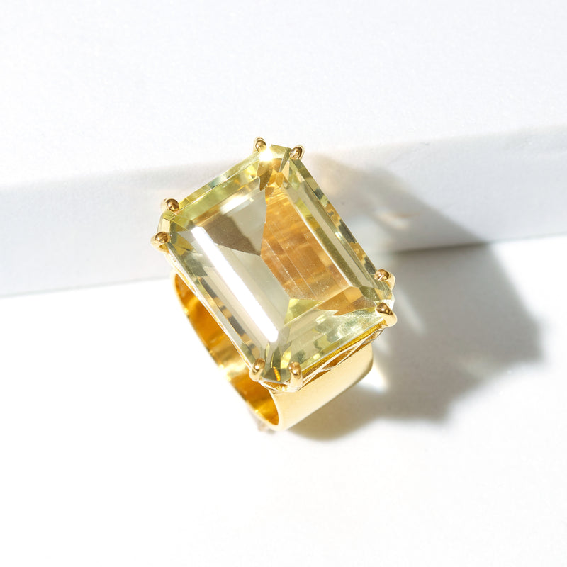 Ring - Lemon Quartz Cocktail RIng