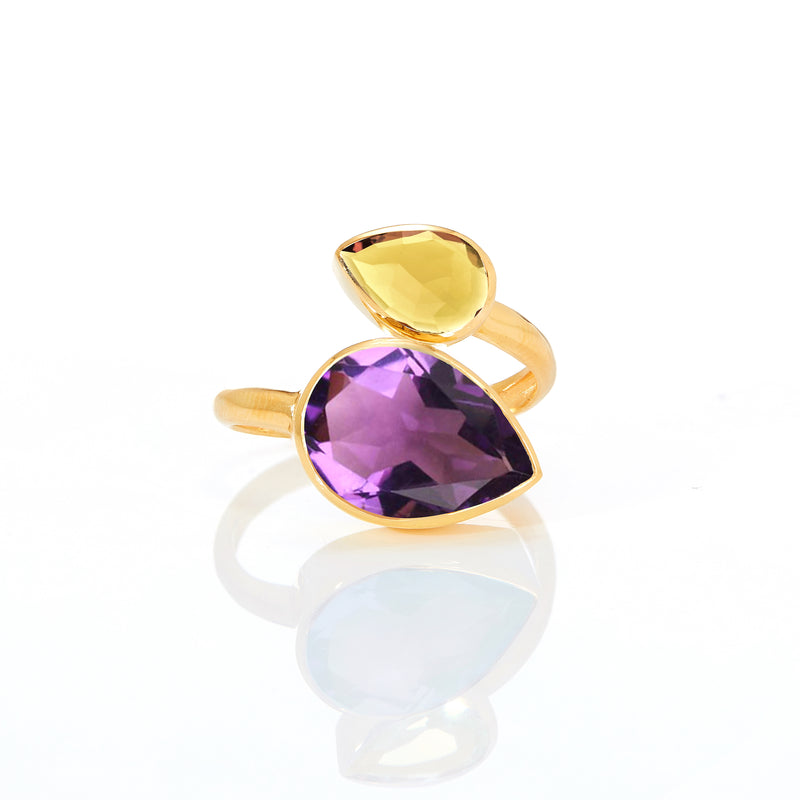Ring - Amethyst & Citrine