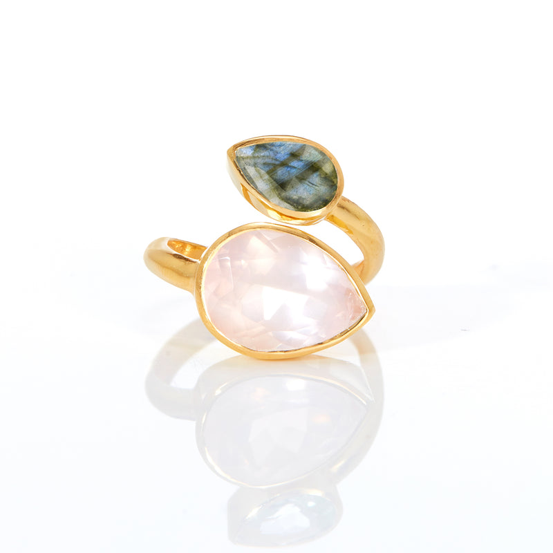 Ring - Rose Quartz & Labradorite