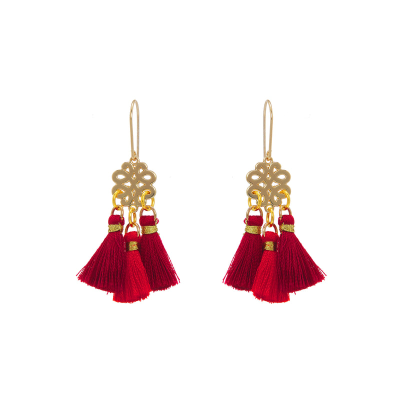 Earrings - Mini Tassel - Devil Woman