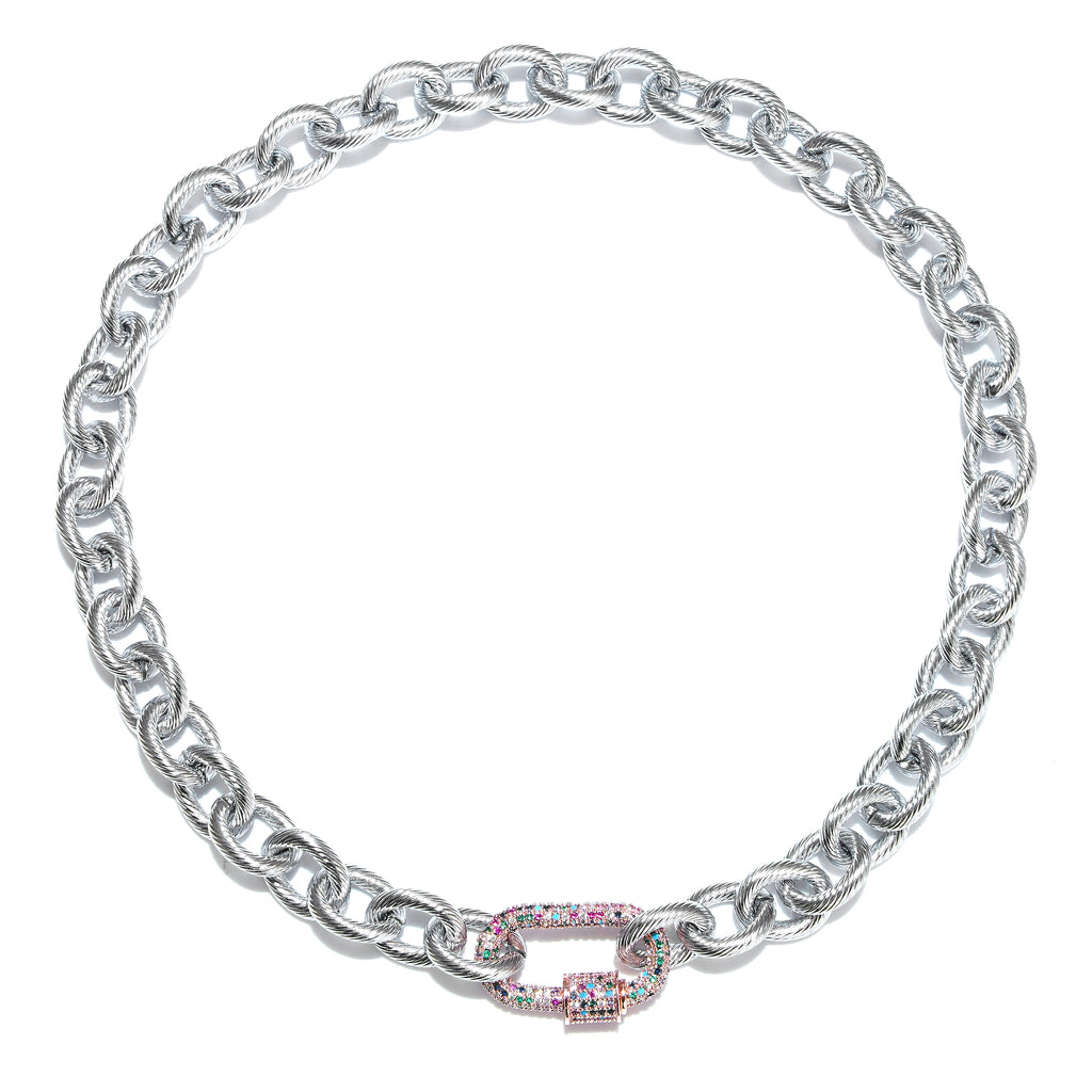 Necklace - DNA Silver with Multi clasp