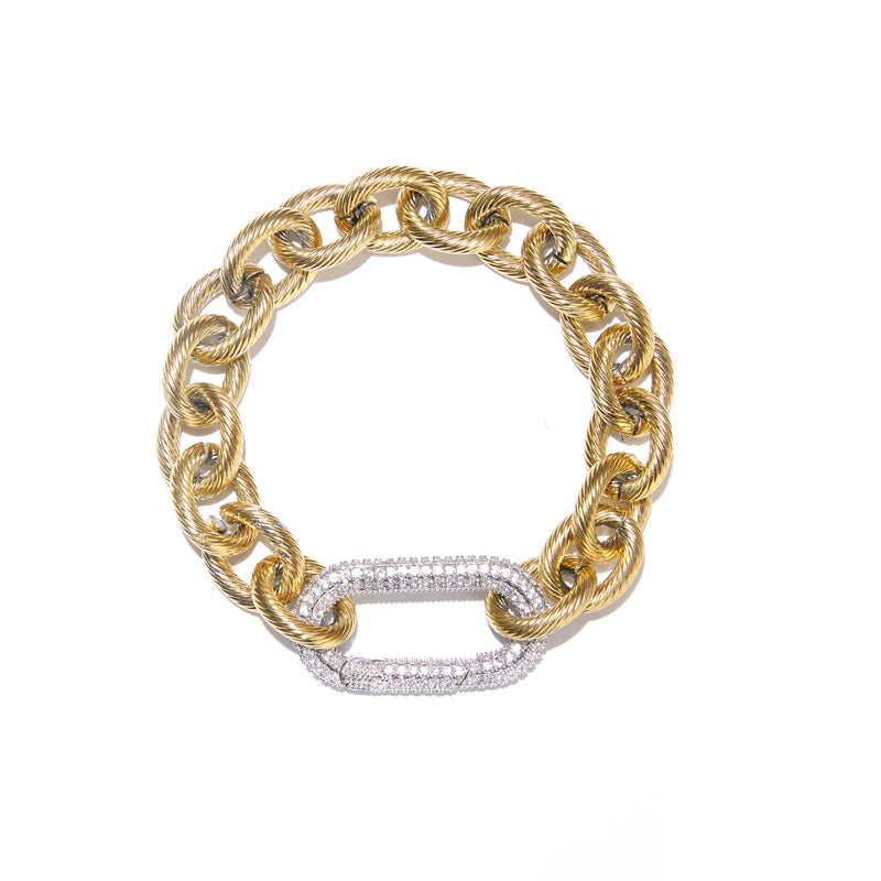 Bracelet - DNA Gold with Silver clasp