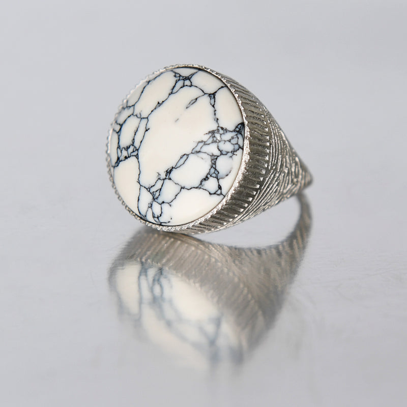Ring - White Howlite