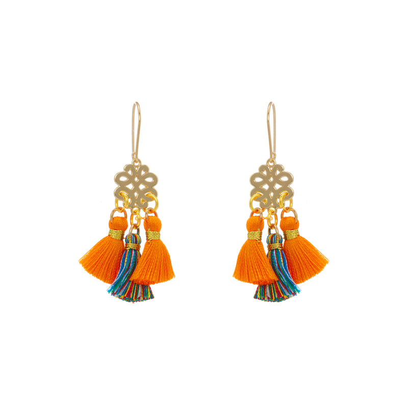Earrings - Mini Tassel - Genda Phool