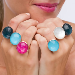 RIng - Gumdrop Mother of Pearl Adjustable Ring