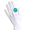 RIng - Gumdrop Turquoise Adjustable Ring