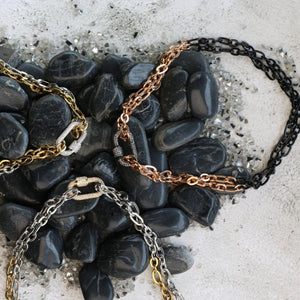 Necklace - Eternal Link with Black Clasp