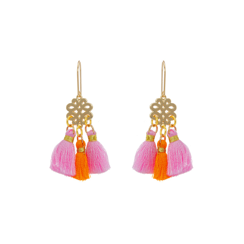 Earrings - Mini Tassel - Jaipur Sunrise