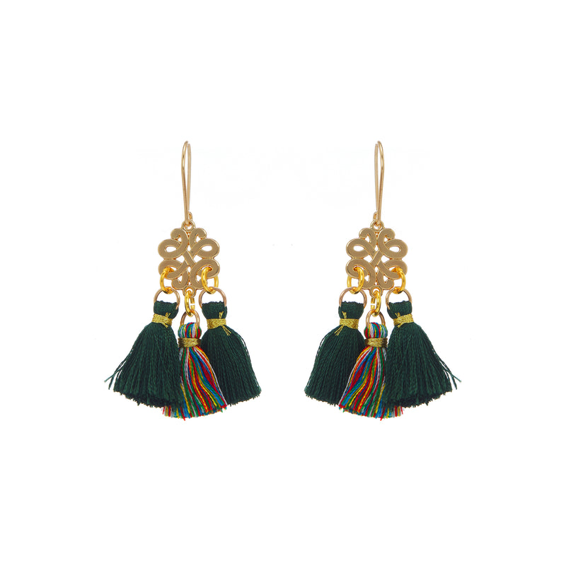 Earrings - Mini Tassel - Jungle Riot