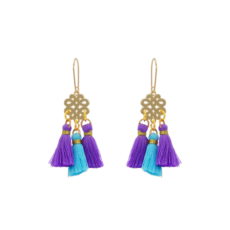 Earrings - Mini Tassel - Lavender Fields
