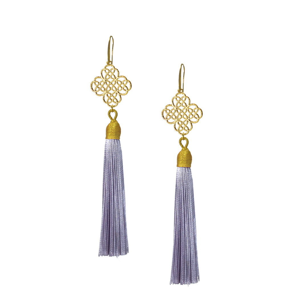 Earrings - Maxi Tassel - Lavender