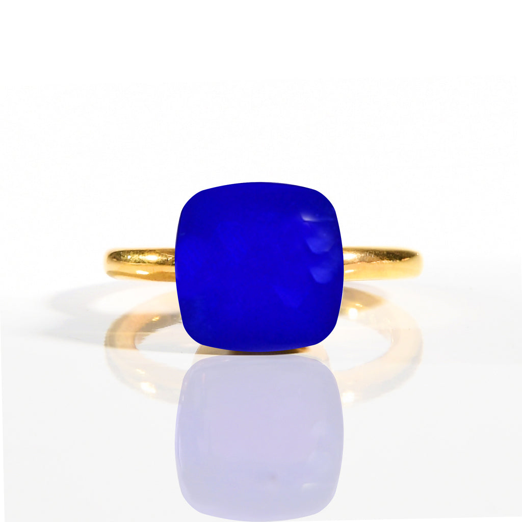 Ring - Naked Blue Chalcedony