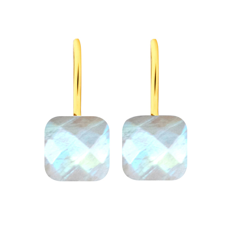 Earrings - Naked 2 in Moonstone