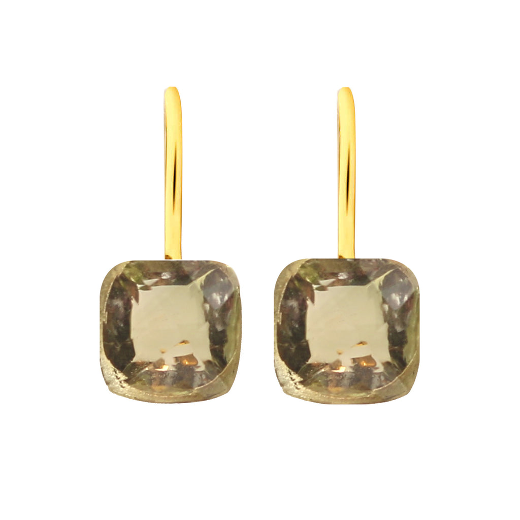 Earrings - Naked 2 in Prasiolite