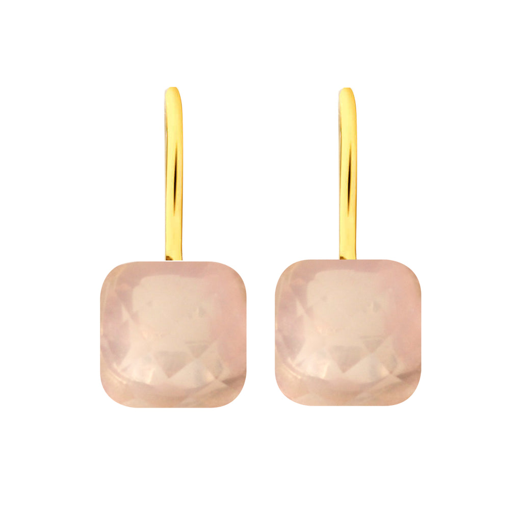 Earrings - Naked 2 in Rose Quartz