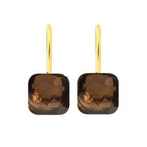 Earrings - Naked 2 in Smoky Quartz