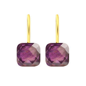 Earrings - Naked 2 in Amethyst