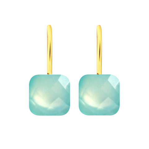 Earrings - Naked 2 in Aqua Chalcedony