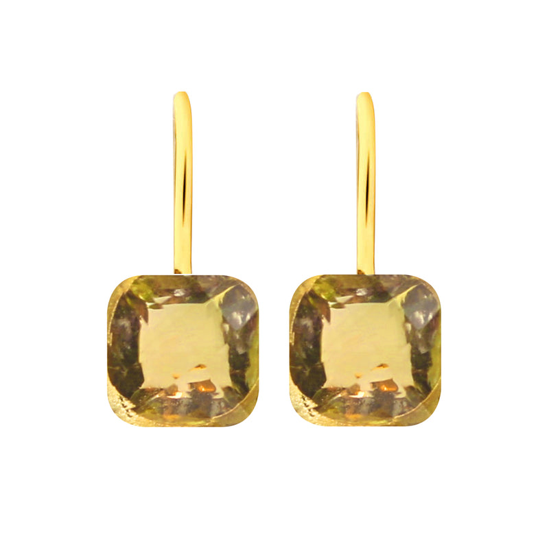 Earrings - Naked 2 in Citrine