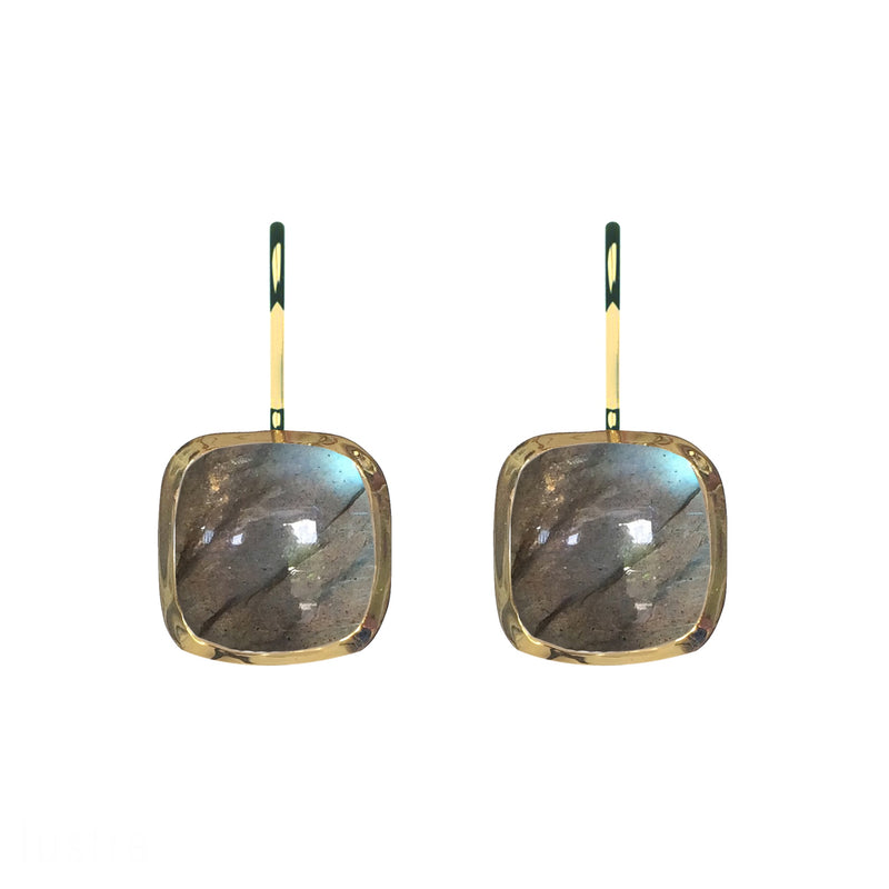 Earrings - Naked in Labradorite & Gold