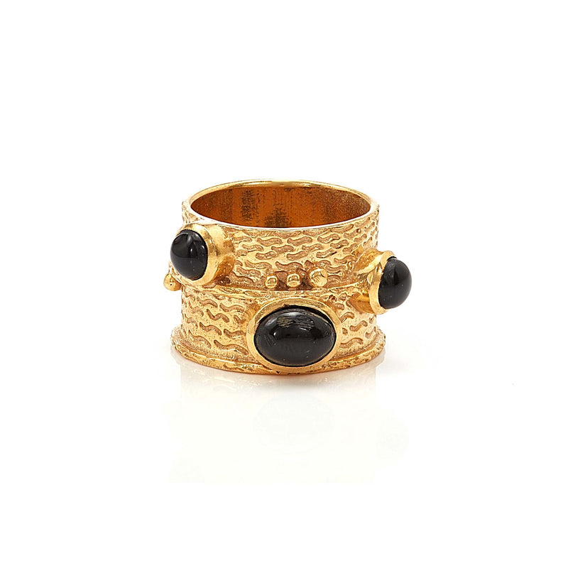 Ring - Bamboo - Black Onyx