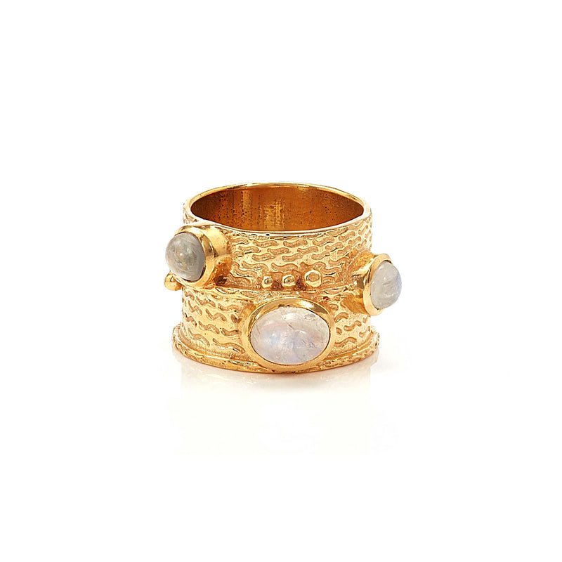 Ring - Bamboo - Moonstone