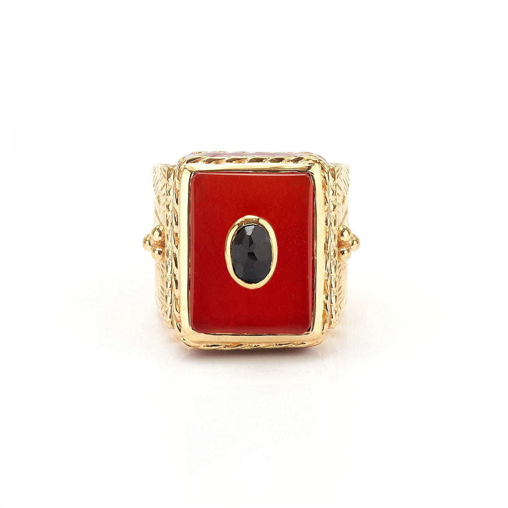 Ring - Solitude -  Shanti in Carnelian Rectangle