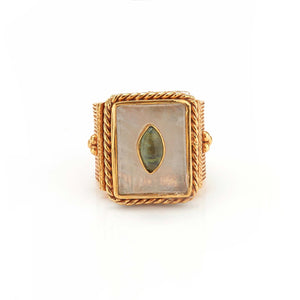 Ring - Solitude -  Shanti in Moonstone Rectangle