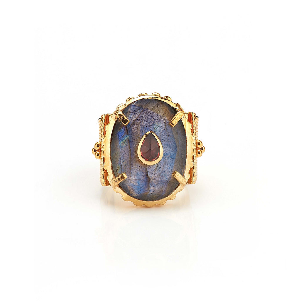 Ring - Solitude -  Shanti in Labradorite Oval