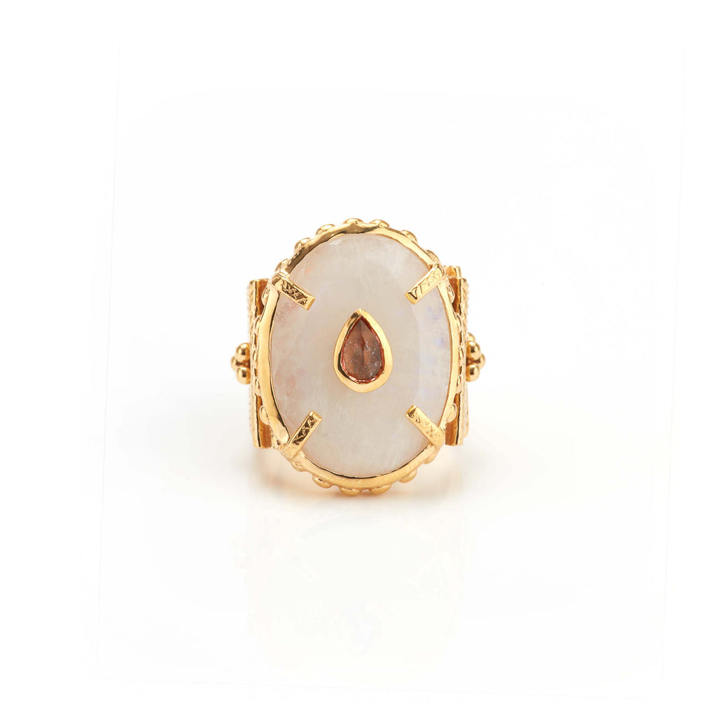 Ring - Solitude -  Shanti in Moonstone Oval