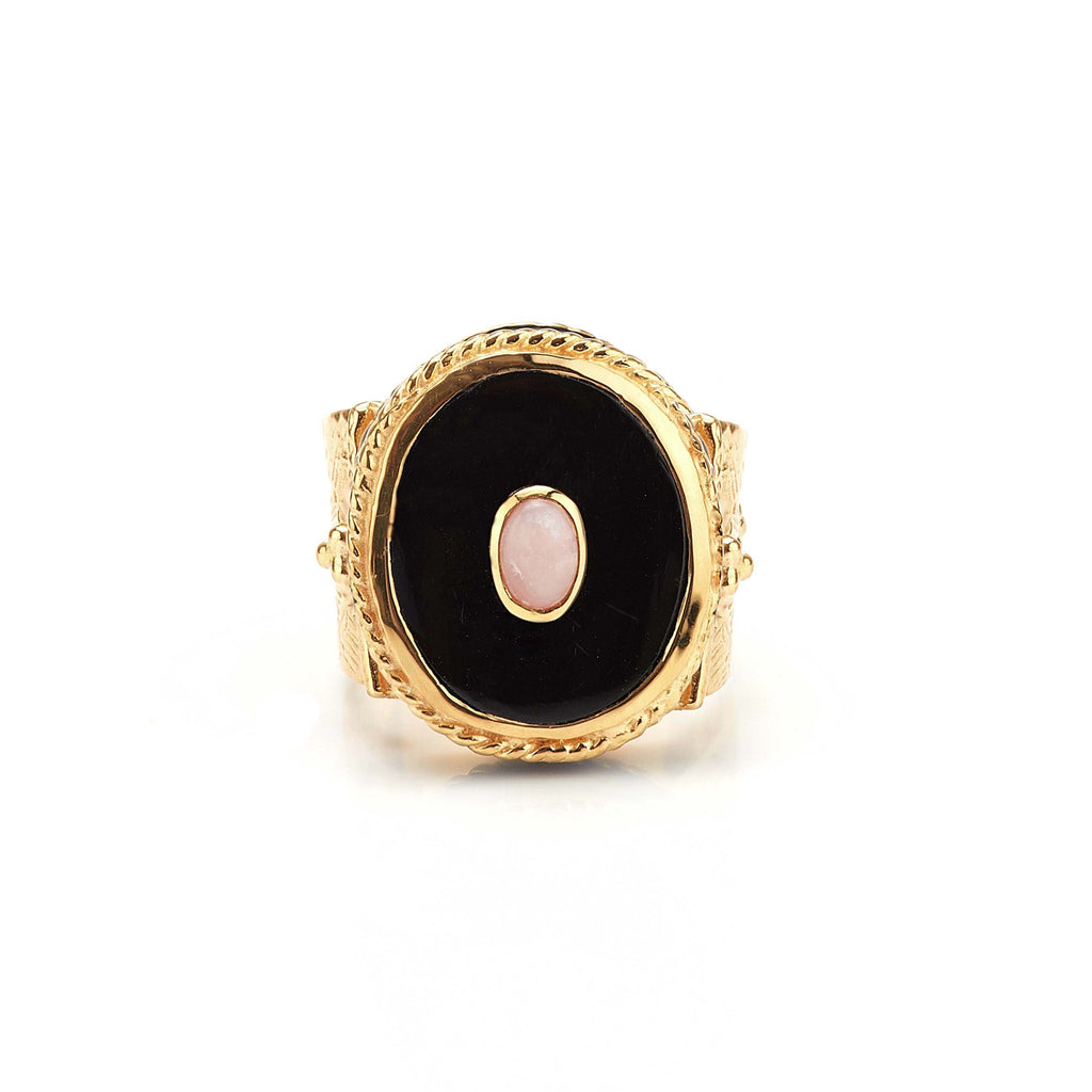 Ring - Solitude -  Shanti in Black Onyx Oval