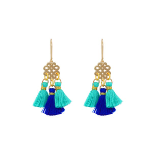Earrings - Mini Tassel - Summer Breeze