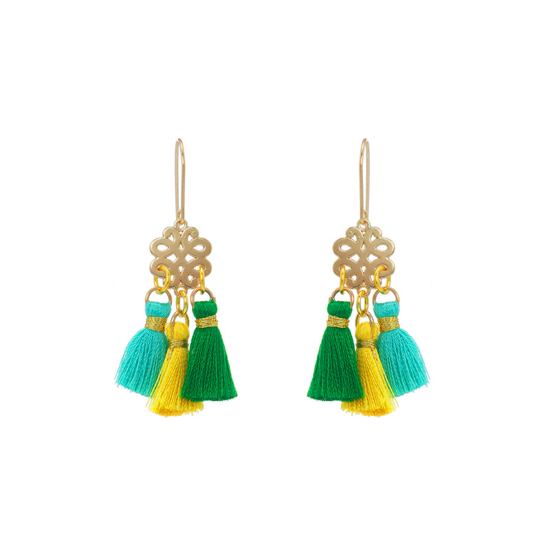 Earrings - Mini Tassel - Summer Day