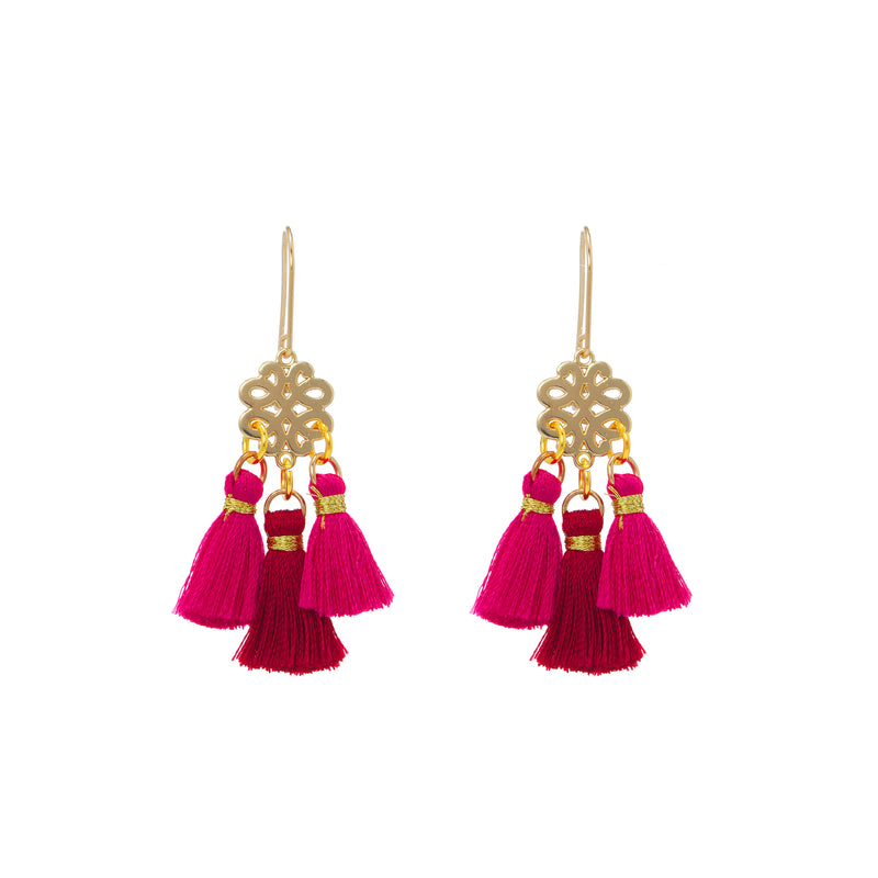 Earrings - Mini Tassel - Sweet Lolly