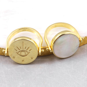 Ring - Talisman Reverso - Mother of Pearl