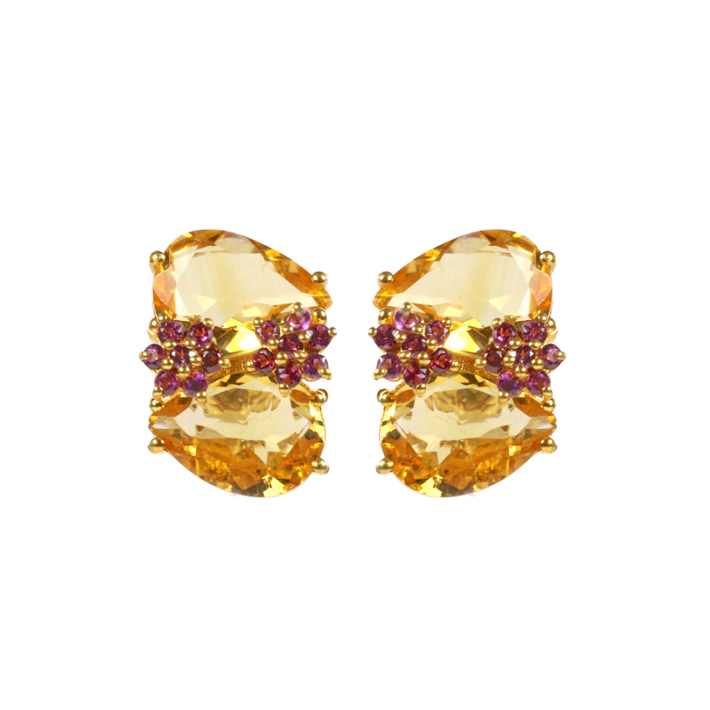 Earrings - Bloom in Citrine