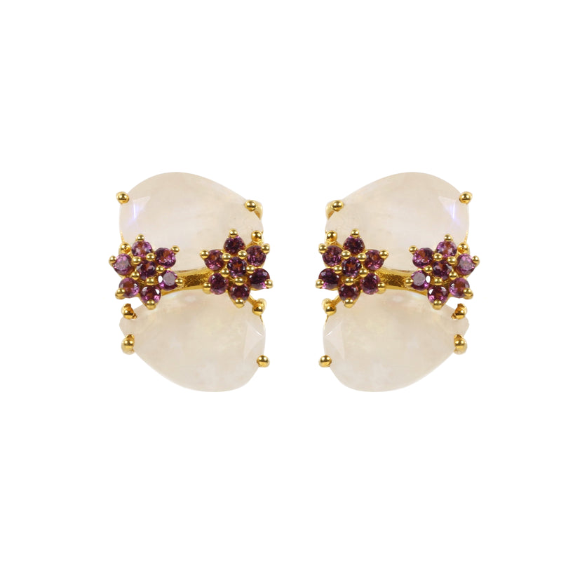 Earrings - Bloom in Moonstone