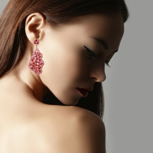 Earrings - Free Form Ruby