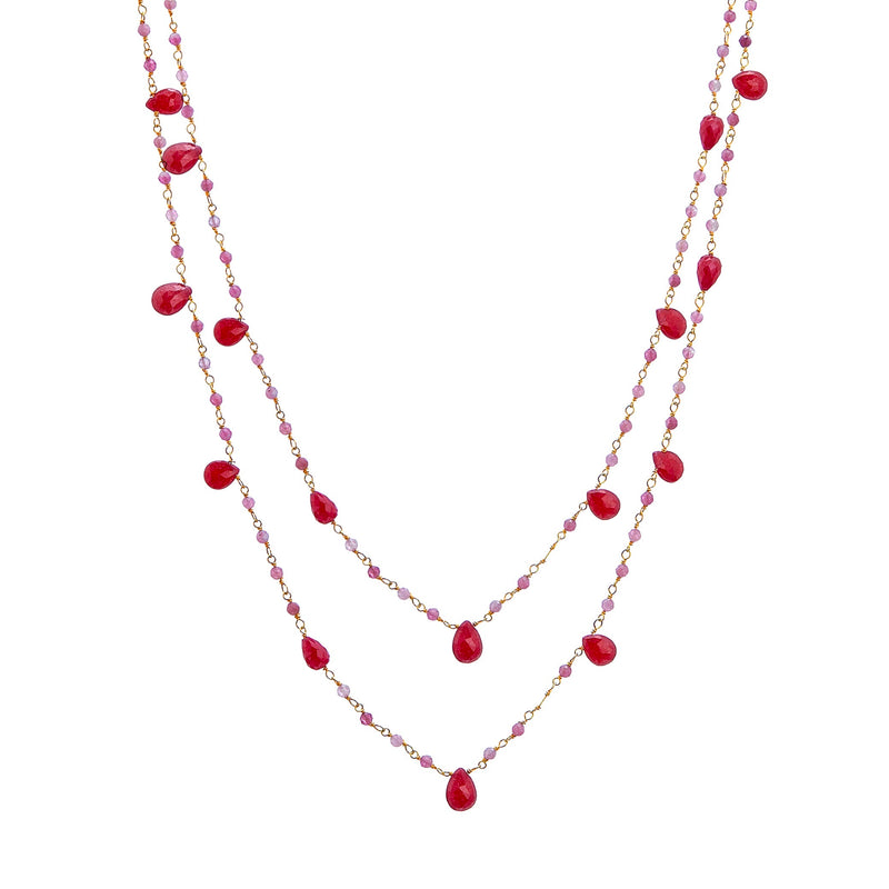 Necklace - Ruby and Tourmaline