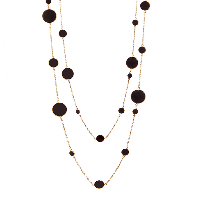 Necklace - Black Onyx Slice