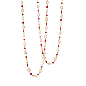 Necklace - Moonstone & Ruby