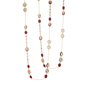 Necklace - Ruby, Tourmaline & Smoky Quartz